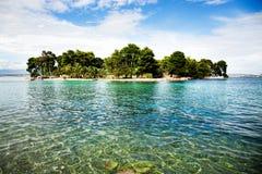 Ilha pequena bonita na Croácia Imagem de Stock