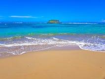 Ilha pequena na praia da casa de campo Montellano perto de Puerto Plata foto de stock royalty free