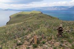 Ilha pequena, o Lago Baikal Foto de Stock