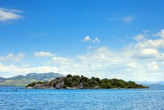 Ilha pequena, paisagem adriático, Croácia fotografia de stock