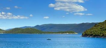 Ilha pequena, paisagem adriático, Croácia fotos de stock