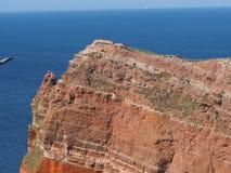 Ilha a pouca distância do mar Helgoland foto de stock