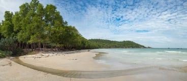 Ilha Sandy Beach selvagem natural de Phu Quoc, Vietname sul Fotos de Stock Royalty Free