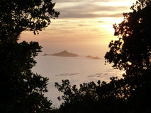 Ilha sanguinário em Córsega Foto de Stock