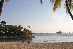 Ilha Singapura 03 de Sontosa da praia de Palawan Imagem de Stock Royalty Free