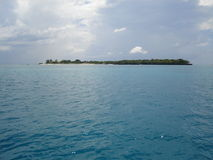 Ilha sozinha no Oceano Índico fotos de stock royalty free