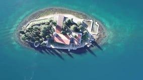 Ilha St George em Perast video estoque