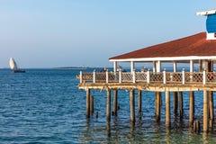 Ilha Tanzânia East Africa de Unguja Zanzibar da margem da cidade da pedra da casa do pernas de pau fotografia de stock royalty free