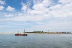 Ilha Terschelling de wadden do Dutch Foto de Stock