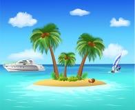 Ilha tropical Ilustração do Vetor