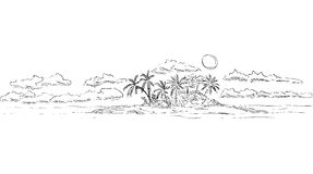 Ilha tropical Imagens de Stock Royalty Free