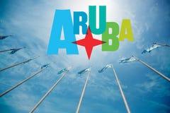 Ilha tropical de Aruba Fotografia de Stock