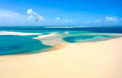Ilha tropical de Bazaruto foto de stock