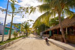 Ilha tropical de Holbox em Quintana Roo México imagens de stock
