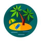 Ilha tropical do oceano do feriado das férias de verão com Fotografia de Stock Royalty Free