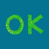 Ilha tropical do texto aprovado Imagem de Stock