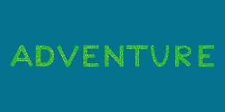 Ilha tropical do texto da aventura Imagens de Stock Royalty Free