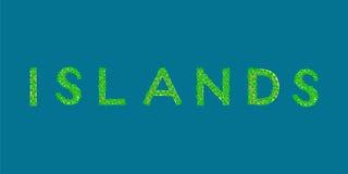 Ilha tropical do texto das ilhas Fotografia de Stock