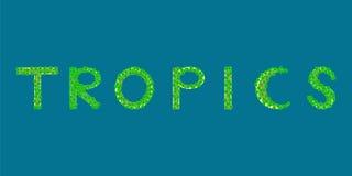 Ilha tropical do texto dos trópicos Foto de Stock