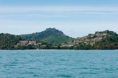Ilha tropical no Oceano Índico fotos de stock