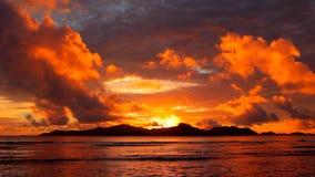 Ilha tropical no Oceano Índico video estoque