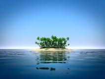 Ilha tropical no oceano ilustração do vetor
