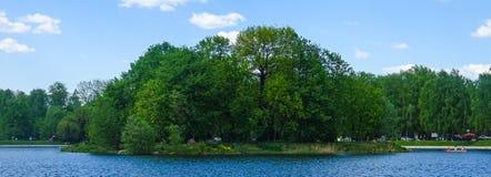 Ilha verde no parque de Kuskovo imagens de stock