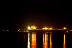 Ilhabela bij nacht Stock Afbeeldingen