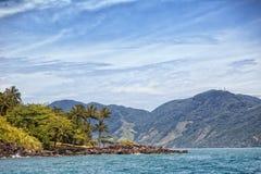 Ilhabela coast Stock Images