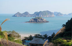 Ilhas bonitas no mar fotografia de stock
