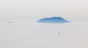 Ilhas croatas bonitas Fotografia de Stock Royalty Free