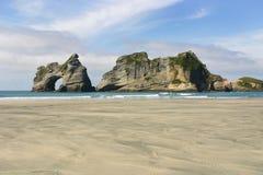 Ilhas da arcada, parque nacional de Kahurangi, Nova Zelândia fotos de stock royalty free