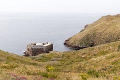 Ilhas de Berlengas, Portugal - 21 de maio de 2018: Forte de Sao Joao Batista imagens de stock