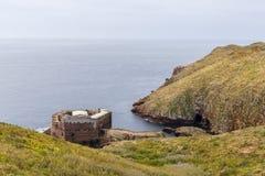 Ilhas de Berlengas, Portugal - 21 de maio de 2018: Forte de Sao Joao Batista imagem de stock royalty free