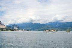 Ilhas de Borromean - ilha do ` s dos pescadores de Isola Superiore no lago Maggiore - Stresa - Itália imagem de stock royalty free