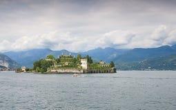 Ilhas de Borromean - ilha de Isola Bella Beautiful no lago Maggiore - Stresa fotografia de stock