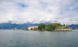Ilhas de Borromean - ilha de Isola Bella Beautiful no lago Maggiore - Stresa Imagens de Stock