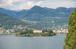 Ilhas de Borromee - ilha Isola Madre da mãe no lago Maggiore - Stresa - Itália Foto de Stock