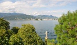 Ilhas de Borromee - ilha Isola Madre da mãe no lago Maggiore - Stresa - Itália Imagem de Stock Royalty Free