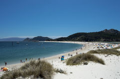 Ilhas de Cies da praia Foto de Stock Royalty Free