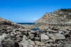 Ilhas de Cies na área atlântica Fotos de Stock Royalty Free