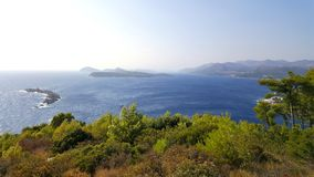 Ilhas de Elafiti na Croácia Imagem de Stock