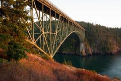 Ilhas de Fidalog Whidbey da passagem da decepção de Puget Sound imagem de stock royalty free