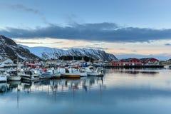 Ilhas de Fredvang - de Lofoten, Noruega fotos de stock