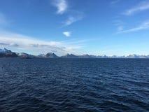 Ilhas de Lofoten no condado de Nordland, Noruega Imagens de Stock Royalty Free