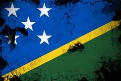 Ilhas de Salomon oxidadas e ilustração da bandeira do grunge ilustração royalty free