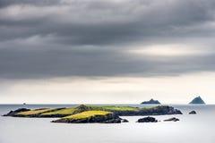 Ilhas de Skellig da costa da ilha de Valentia Imagem de Stock