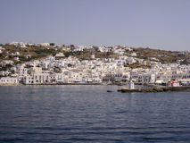 Ilhas do grego de Mykonos Fotografia de Stock