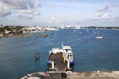 Ilhas do porto três de Nassau fotos de stock