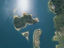 Ilhas do reservatório de Huangshi fotografia de stock royalty free